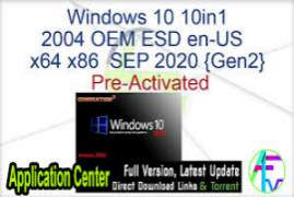 Windows 10 2004 (20H1) EN-US AIO (15in1) 19041.546 x64